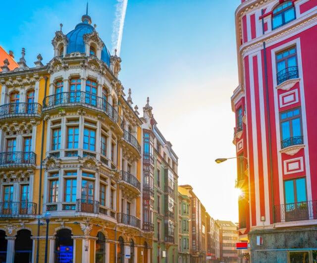 Edificios Art Nouveau del centro de Gijón
