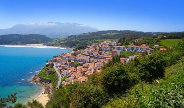 Vista aérea de Lastres, asturias