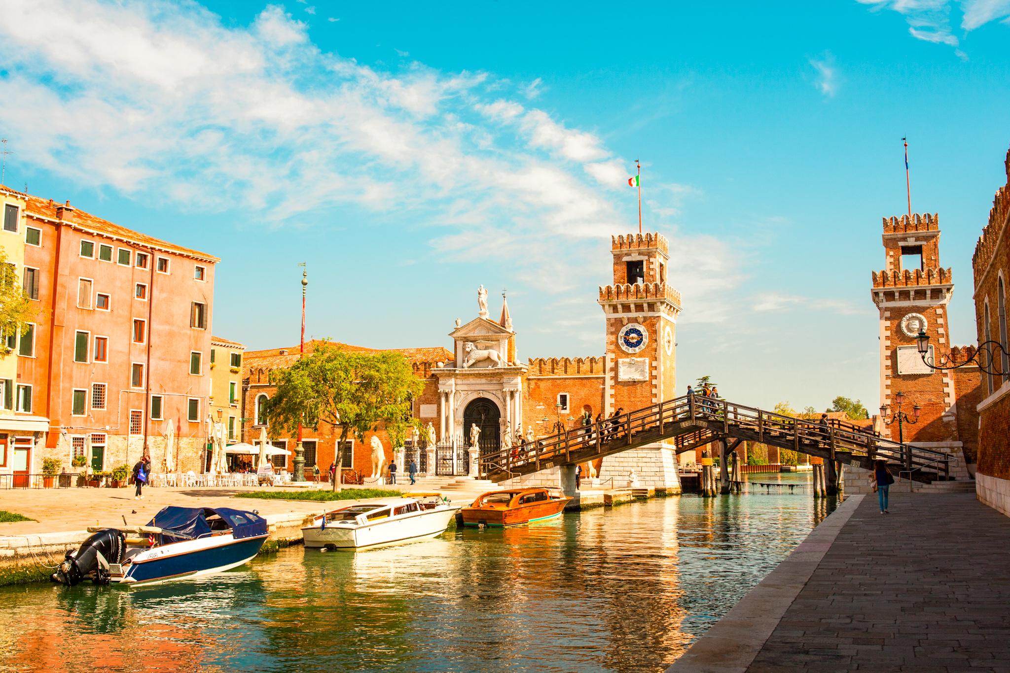entrada al Arsenale de venecia