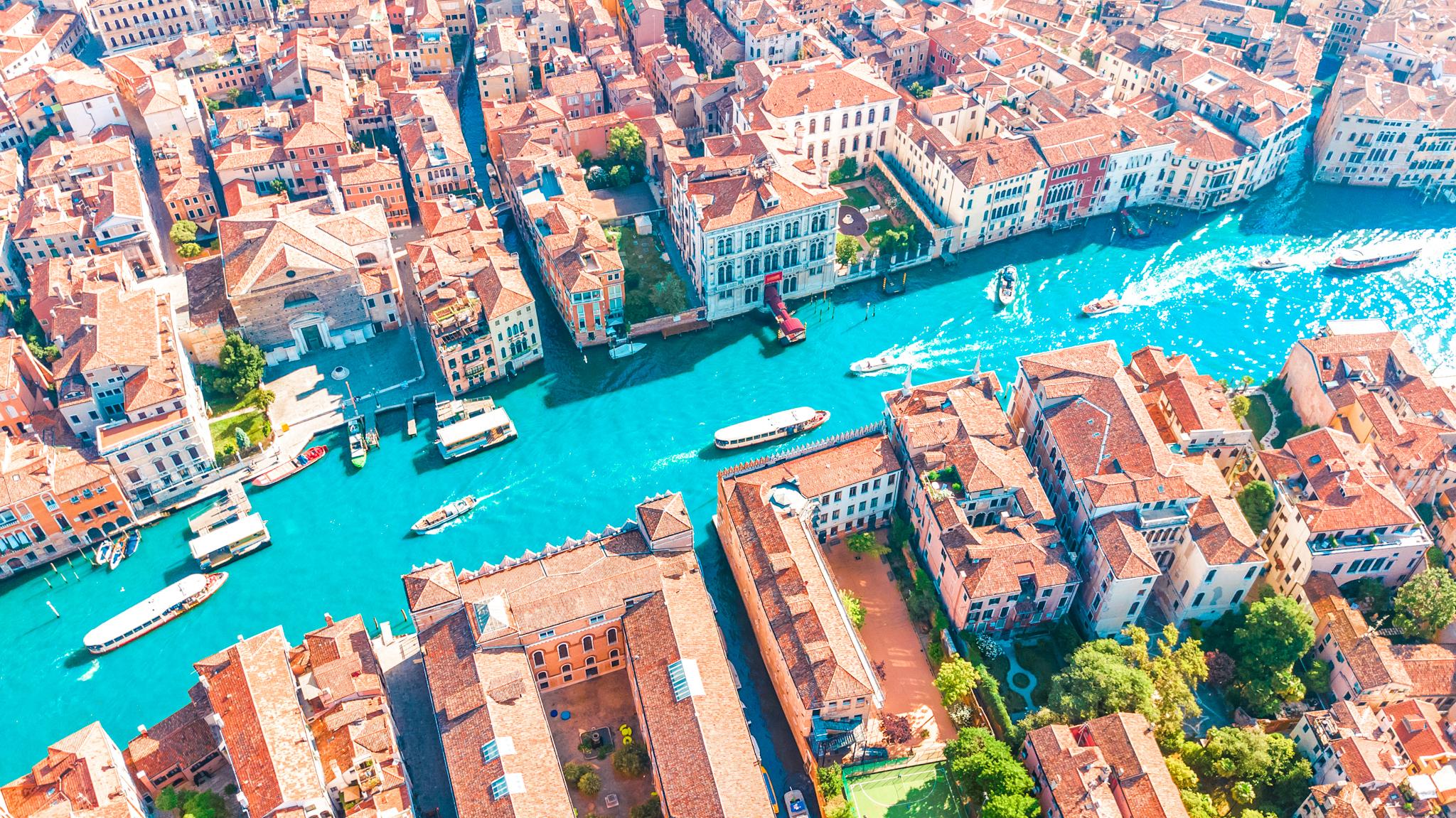 vista aérea gran canal venecia