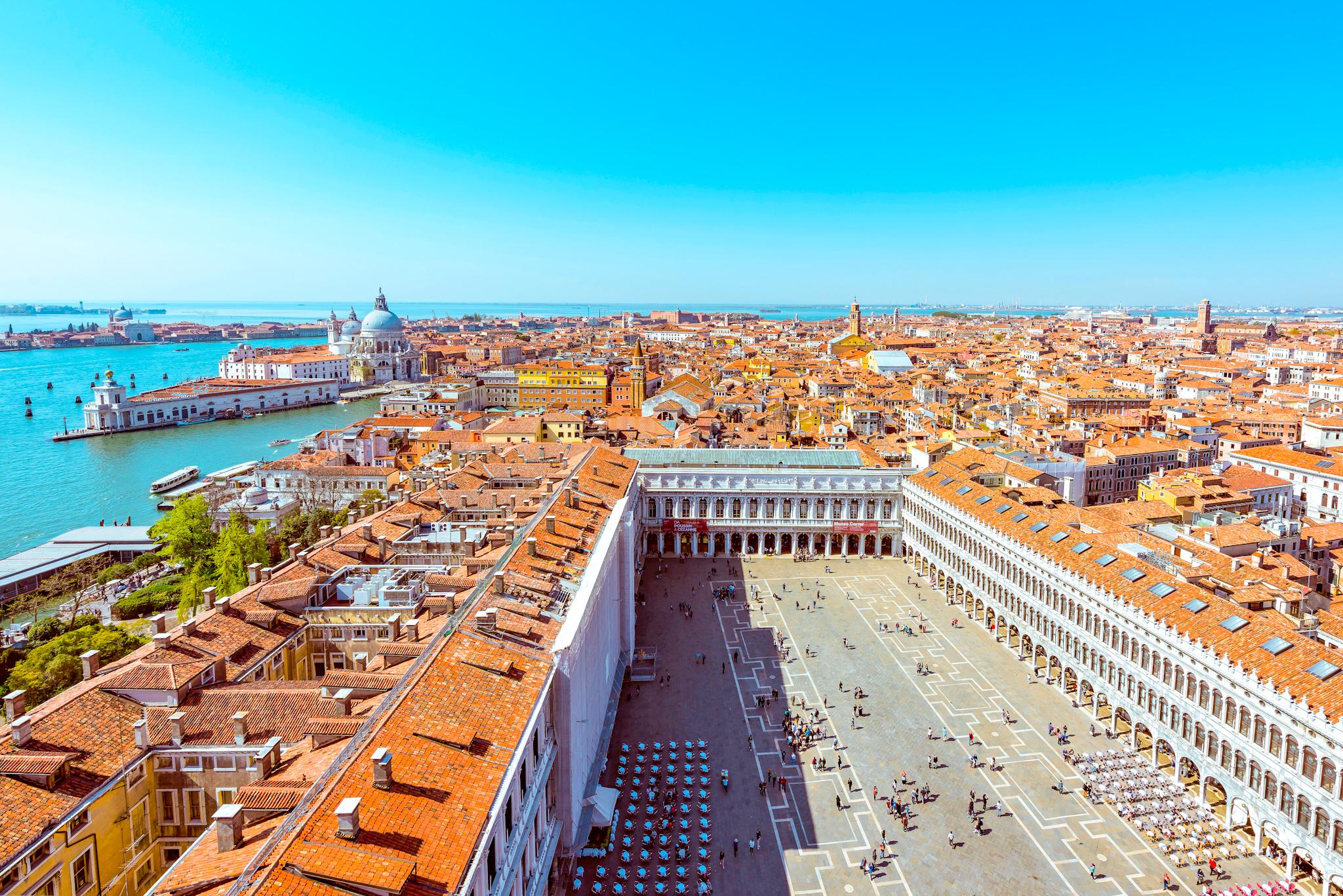 cosas que ver y hacer en Venecia: vista aérea de la Plaza de San Marcos