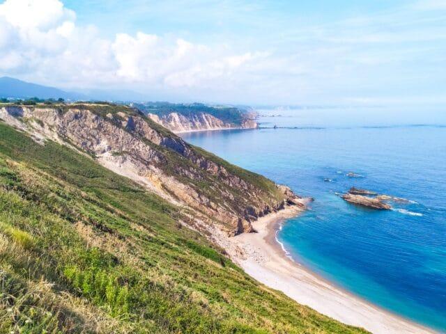 Vistas desde el Cabo Vidio en Asturias