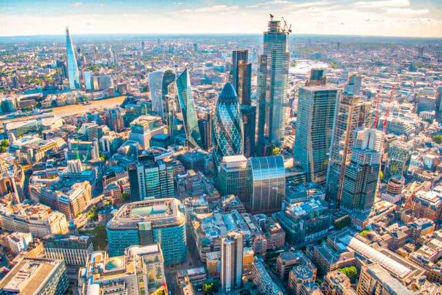 Vista aérea de la City of London