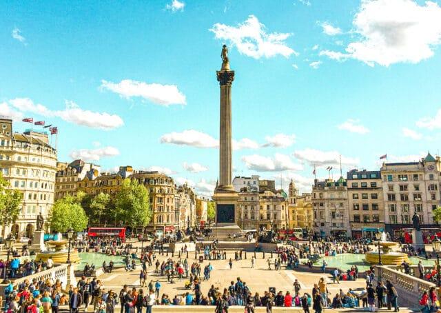 Lugares imprescindibles que visitar en Londres: Plaza de Trafalgar