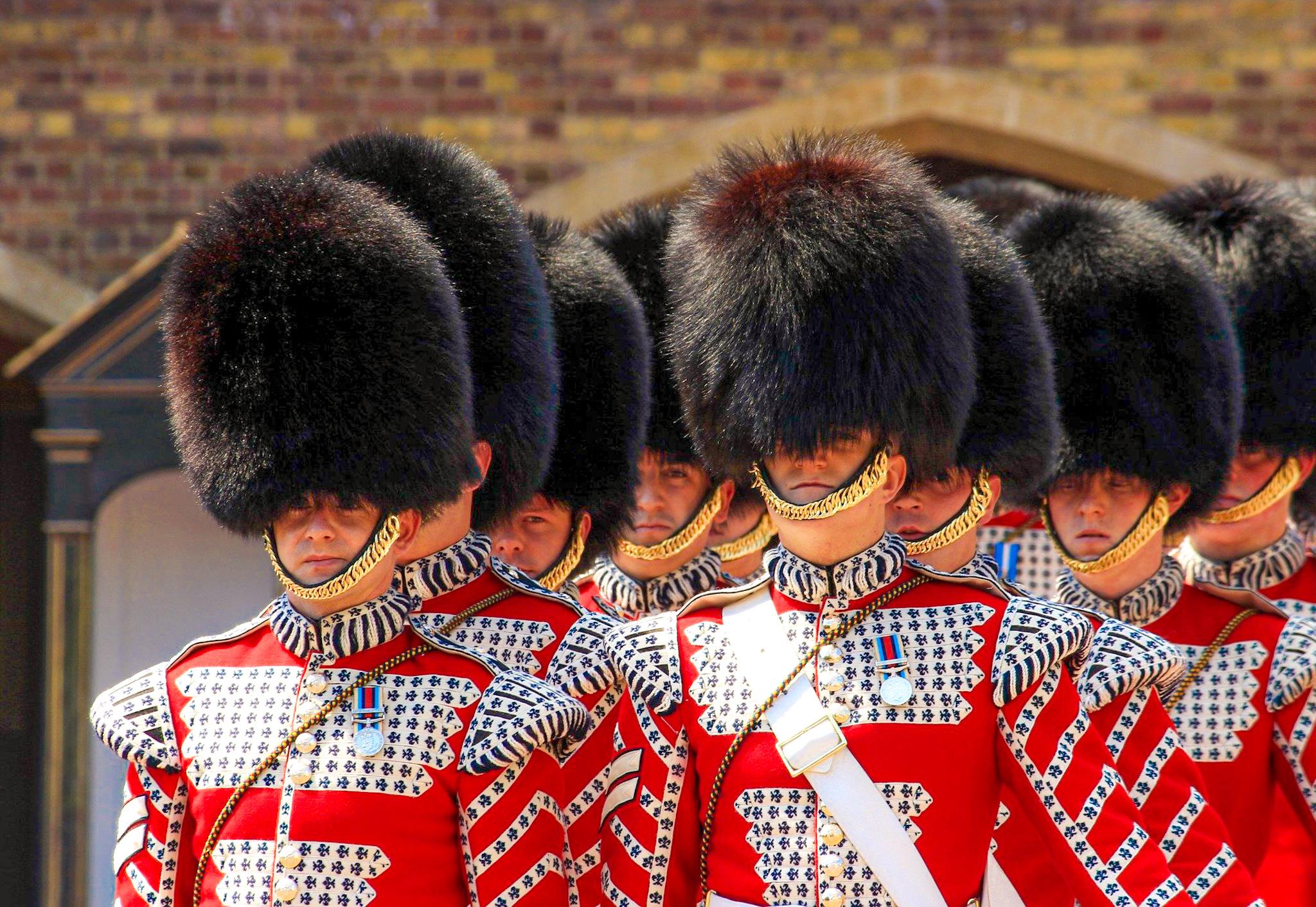 Cambio de Guardia durante el free tour de Westminster por Londres