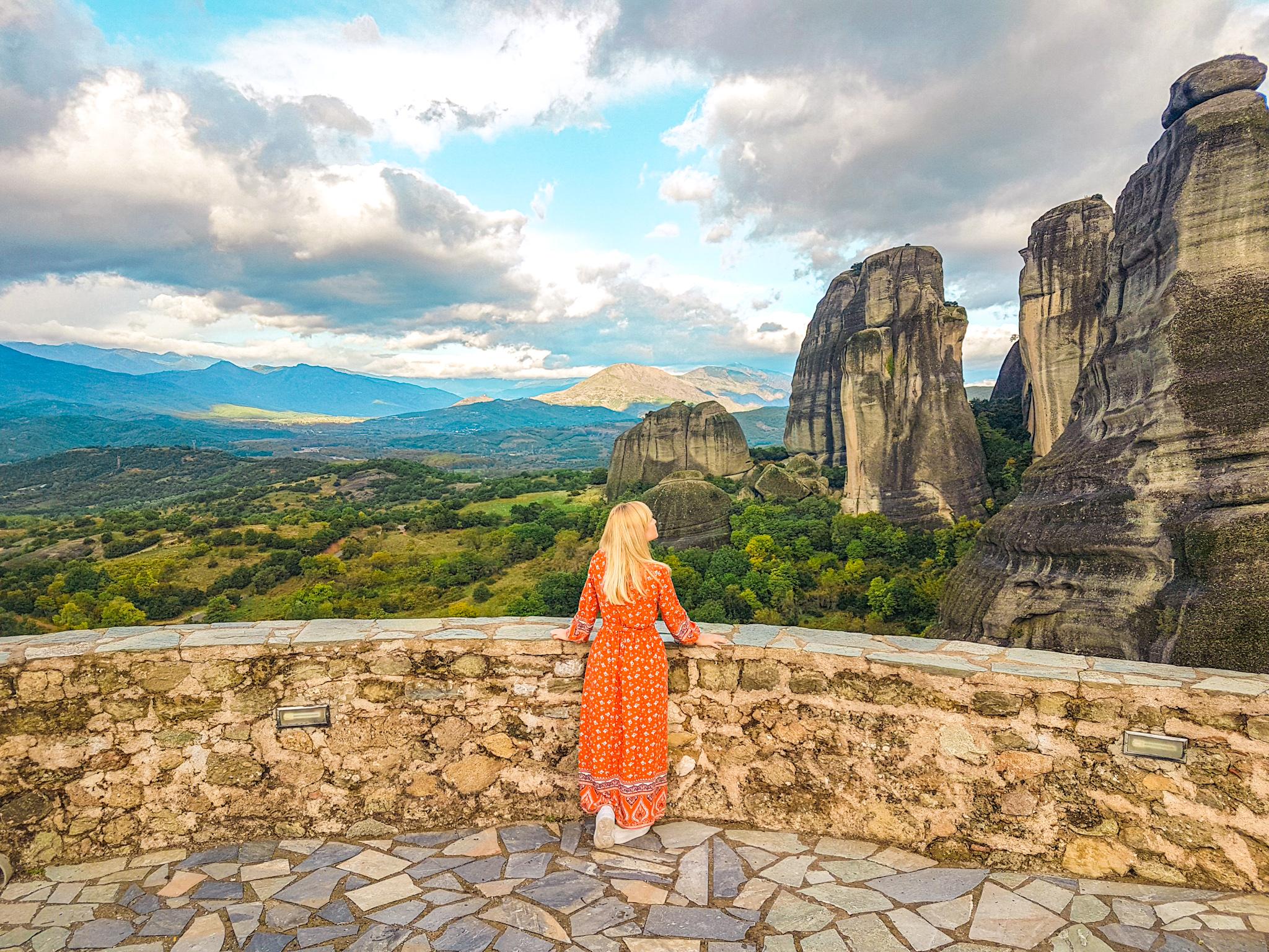 Vistas desde el monasterio de San Nicolás en Meteora