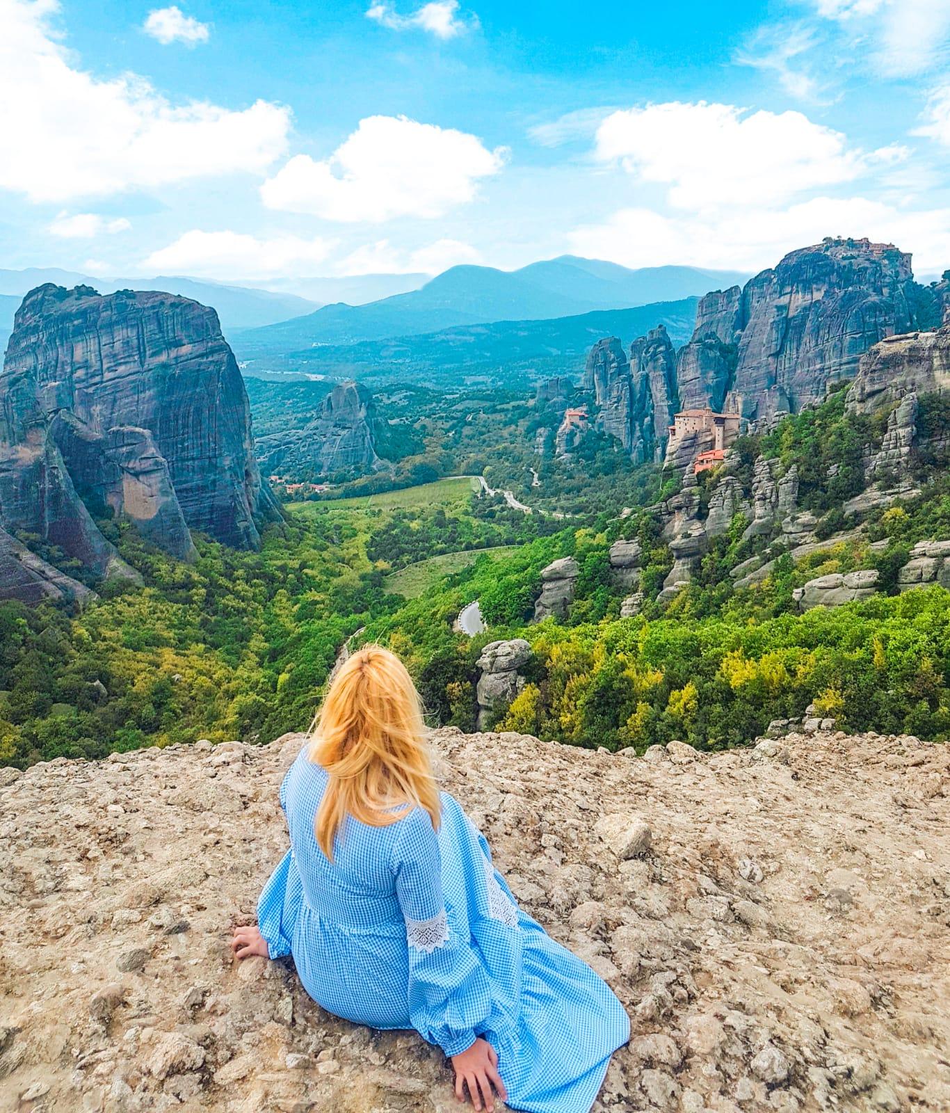 Vistas desde uno de los miradores de Meteora