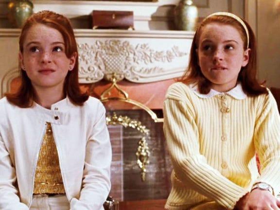 Escena de la película The Parents trap