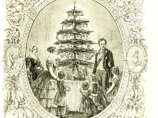 Dibujo que dió fama al árbol de navidad