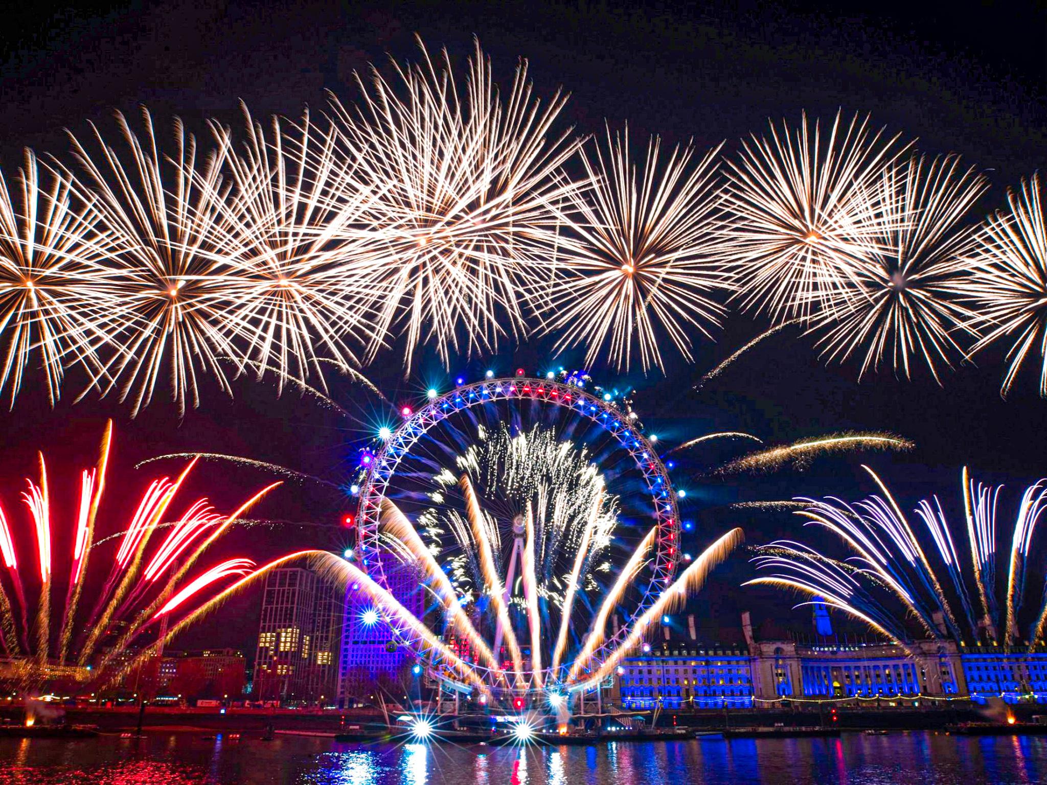 Cómo se celebra la navidad en Londres: los fuegos artificiales de Fin de año