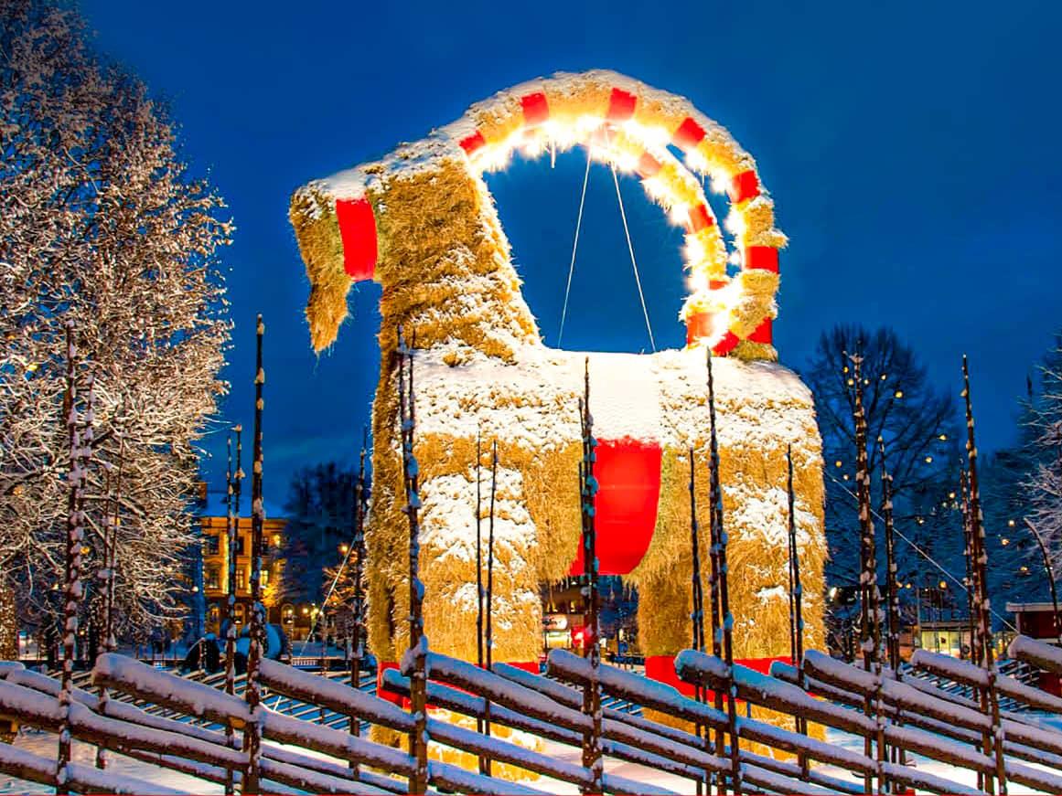 Cómo se celebra la navidad en el mundo: la cabra de Gavle