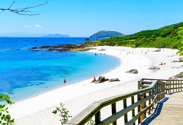 Una de las playas de la Isla de Ons