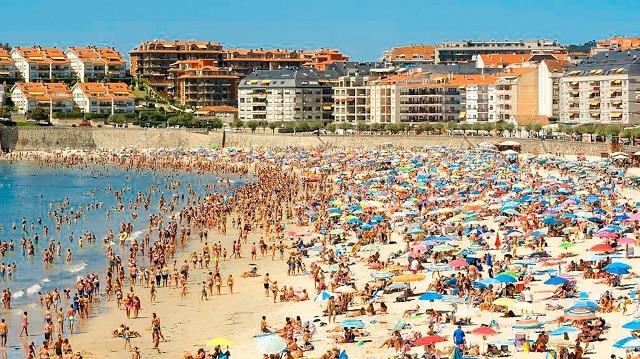 Una de las playas de Sanxenxo, en las Rías Baixas