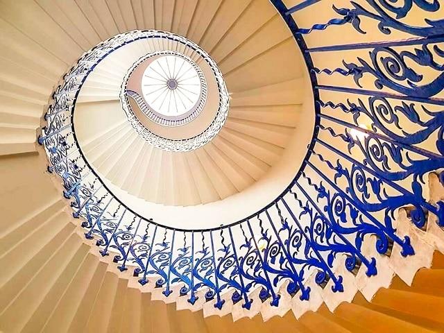 Escalera de caracol en la Queen´s house, Greenwich