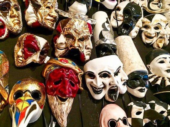 Máscaras típicas del Carnaval de Venecia (2021)
