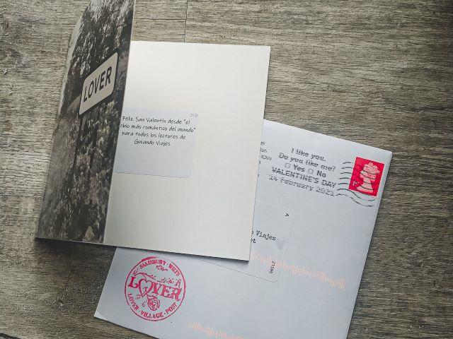 Postal desde Lover para desear un feliz san Valentín 2021 a todos los lectores de Guiando Viajes
