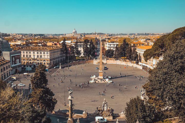 Vista de la Piazza del Popolo desde el mirador del Pincio, Roma
