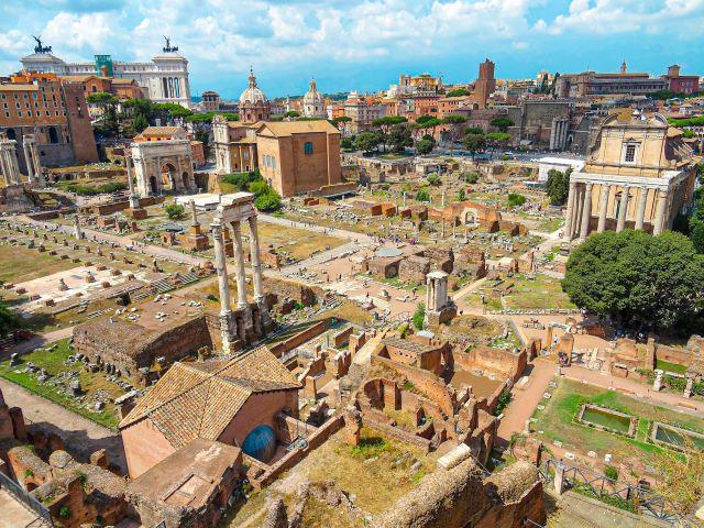 Vista panorámica del Foro Romano
