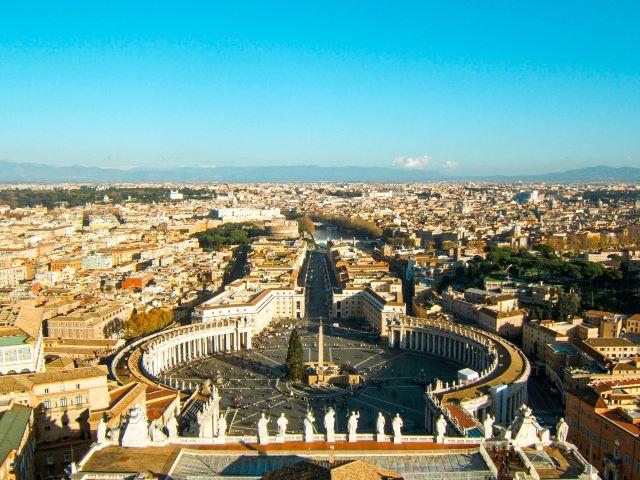 Vistas desde la cúpula de la Basílica de San Pedro