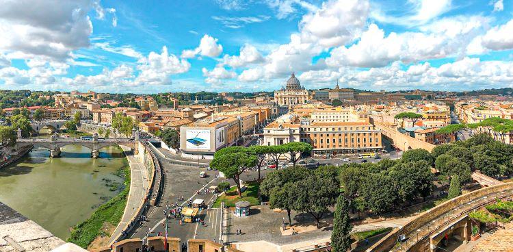 Panorámica de Roma desde el Castel Sant'Angelo