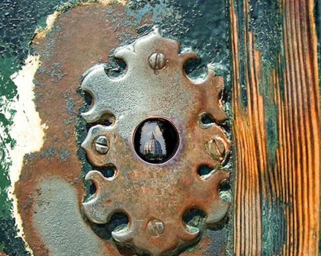 Vista de San Pedro desde el agujero de la cerradura