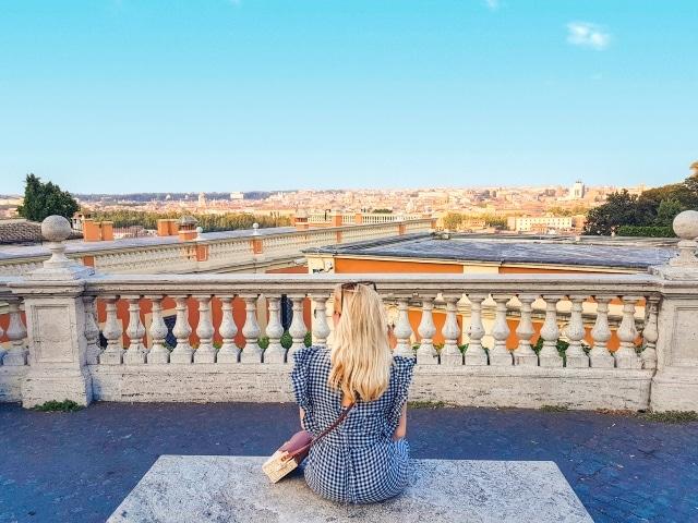 Vistas desde la colina del Gianicolo, uno de los mejores miradores gratis de Roma
