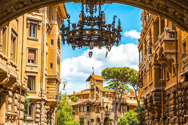 Arco de entrada al Barrio Coppedé