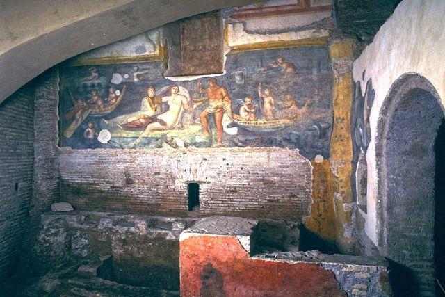Una de las habitaciones de las casas romanas del Celio