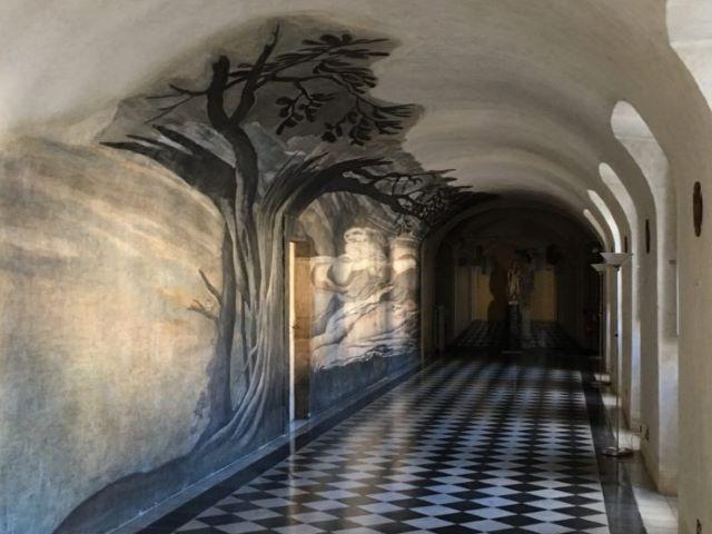 Anamorfismo del convento de la Trinitá dei Monti