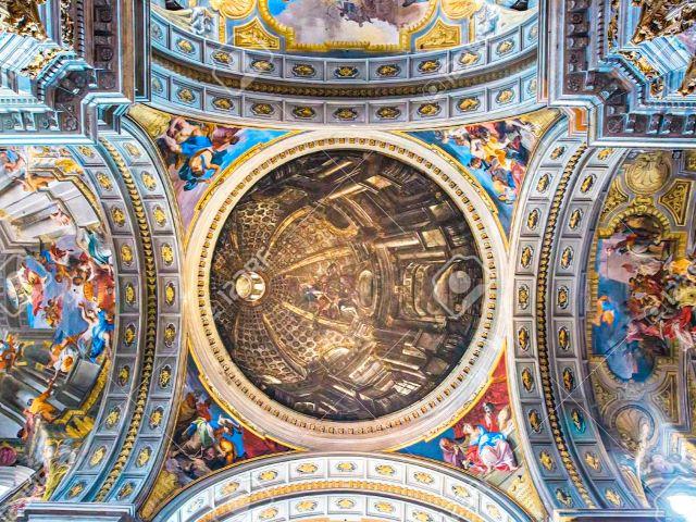 Falsa cúpula de la Iglesia de San Ignacio de loyola