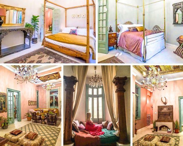 ¿Dónde dormir en Egipto? interior de nuestro apartamento en el Cairo