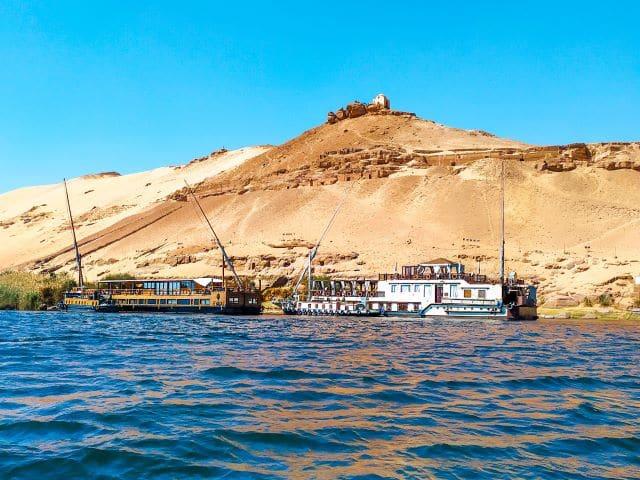Dahabiyas en el Nilo, Egipto