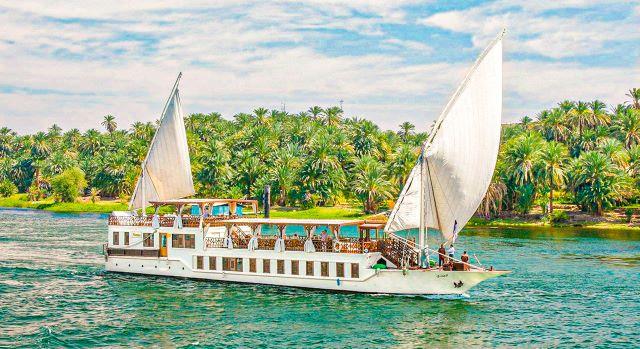 Una dahabiya, el crucero más lujoso por el Nilo