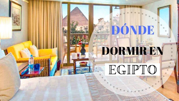 portada dónde dormir en Egipto