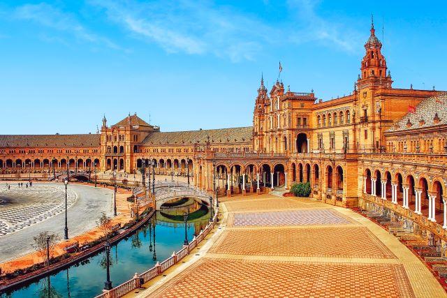 Plaza de España de Sevilla, una de las más bonitas de España