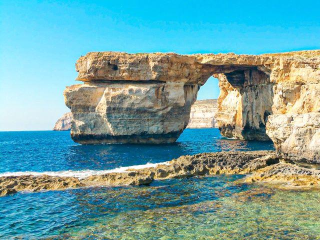 La Ventana Azul de Gozo antes de ser destruída
