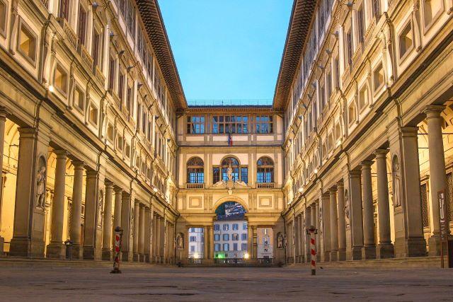 Patio exterior de los Uffizzi