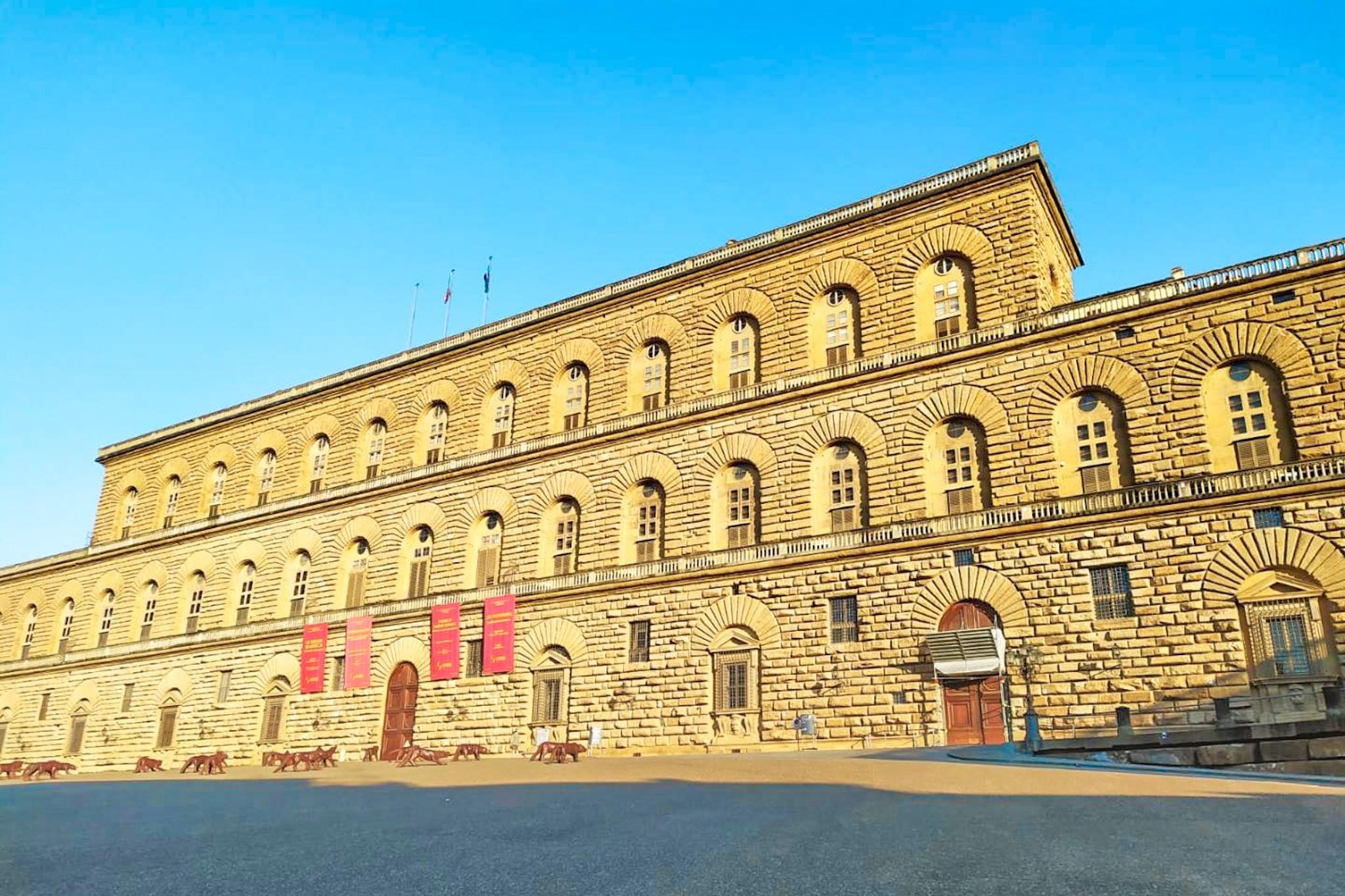 Fachada de entrada al Palacio Pitti