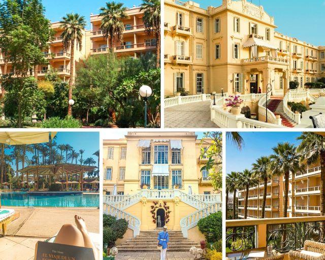 Áreas del hotel Pavillon y del Winter Palace, el mejor alojamiento donde dormir en Luxor Egipto