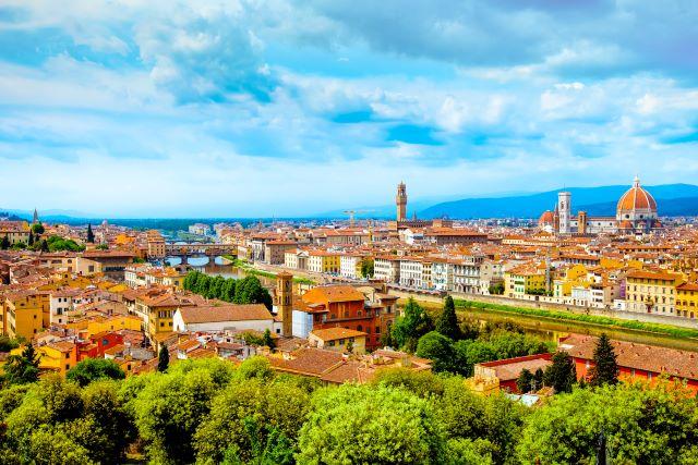 Vistas de Florencia desde el Piazzale Michelangelo