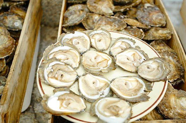 Plato de ostras de A pedra, un lugar imprescindible que ver en Vigo en 1 o 2 días
