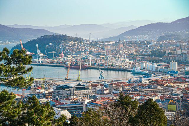 Panorámica del puerto de Vigo