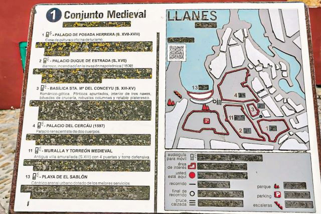 Mapa del conjunto medieval de LLanes