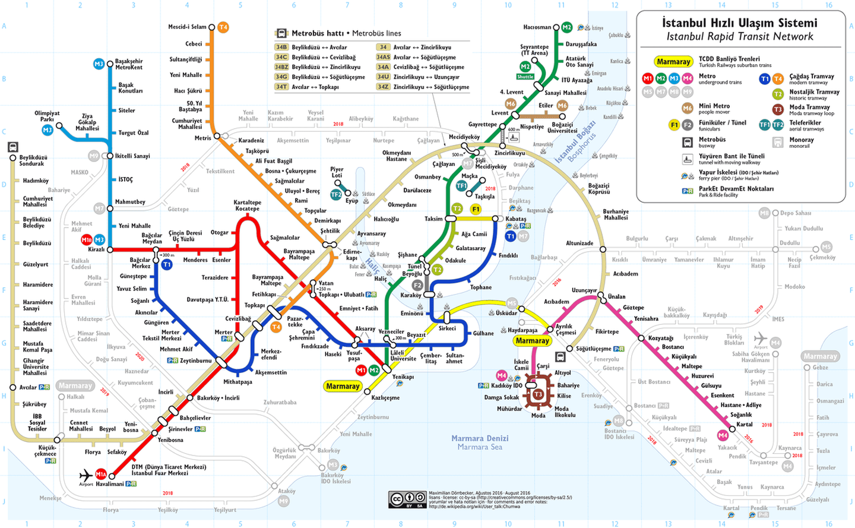 Cómo moverse por Estambul en transporte público: mapa completo